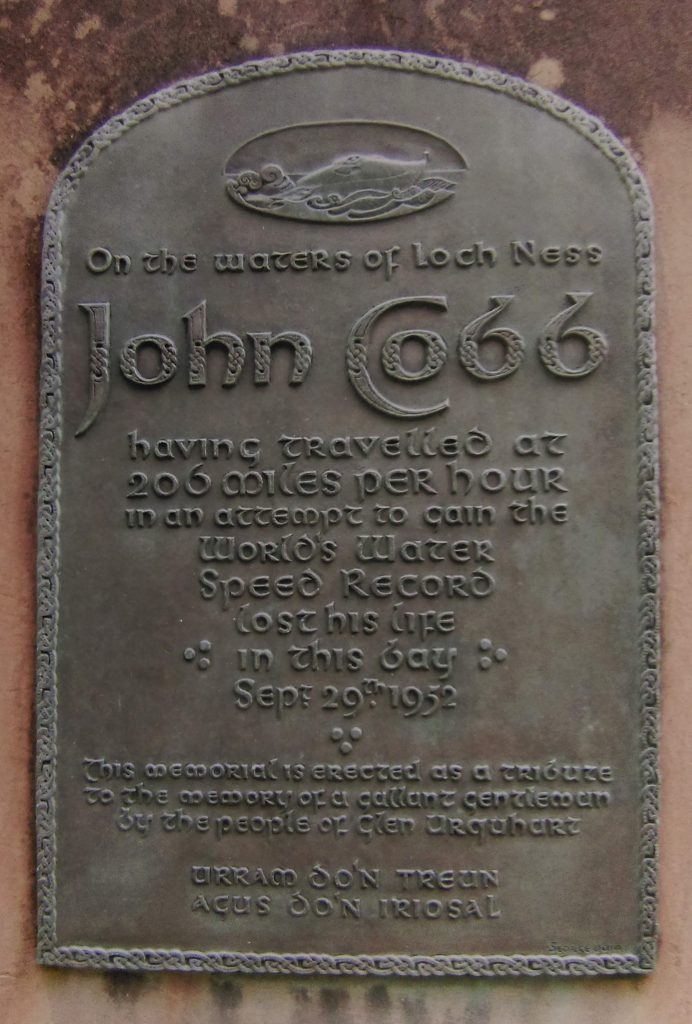 Bronze plaque commemorating John Cobb